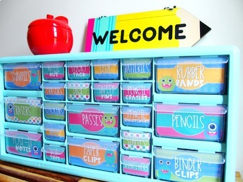 Teacher Toolbox Labels   Monster Theme