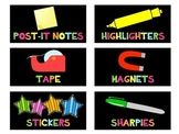 Teacher Toolbox Labels {Neon Bright} {Editable}
