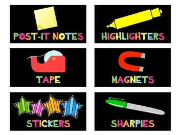 Teacher Toolbox Labels {Neon Bright} {Editable}