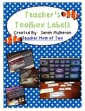Teacher Toolbox Labels - Ocean Theme
