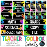 Teacher Toolbox Labels - Paint Splats (EDITABLE)