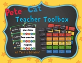 Pete the Cat Inspired Decor: Teacher Toolbox Labels
