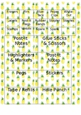 Teacher Toolbox Labels (Pineapple Theme)