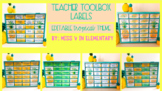 Teacher Toolbox Labels Pineapple Theme EDITABLE