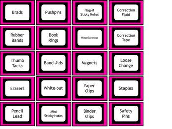 Teacher Toolbox Labels - Pink