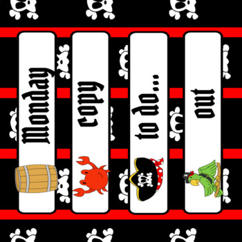 Teacher Toolbox Labels-Pirate Theme