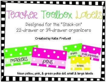 Teacher Toolbox Labels - Polka Dot Mix & Match