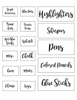 Teacher Toolbox Labels: Printer Friendly
