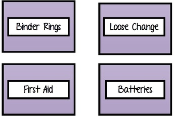 Teacher Toolbox Labels Purple Leopard
