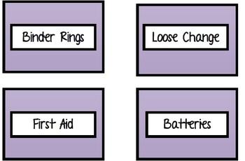 Teacher Toolbox Labels Purple Leopard