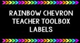 Teacher Toolbox Labels- Rainbow Chevron Black