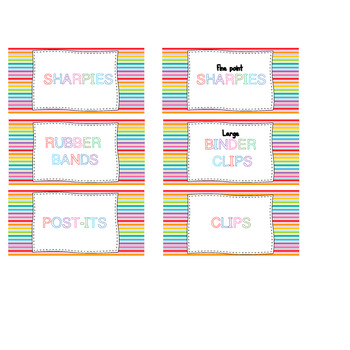 Teacher Toolbox Labels : Rainbow Colors