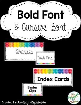 Teacher Toolbox Labels Rainbow Theme