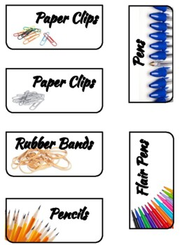 Teacher Toolbox Labels | Real Pictures | Stack-On Storage | with EDITABLE labels
