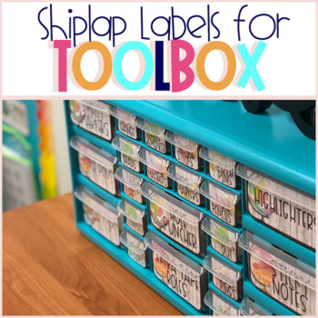 Teacher Toolbox Labels - Shiplap-Travel Edition