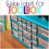 Teacher Toolbox Labels - Shiplap-Travel Edition
