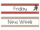 Weekly Drawer Labels-Sock Monkey