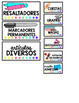 Teacher Toolbox Labels - Spanish Version