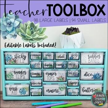Teacher Toolbox Labels | Succulent Theme