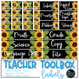 Teacher Toolbox Labels - Sunflowers
