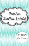 Teacher Toolbox Labels- Teal Chevron