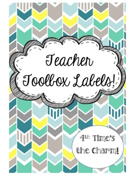 Teacher Toolbox Labels- Teal, Green, & Gray