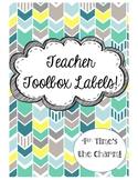 Teacher Toolbox Labels- Teal, Green, & Gray