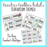 Teacher Toolbox Labels- Terrarium Themed