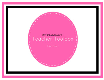 Teacher Toolbox Labels Theme Fuchsia Tones by Miss A's Adventures