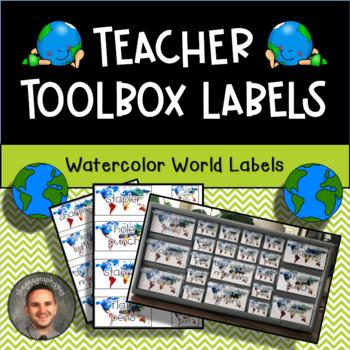 Teacher Toolbox Labels - World Map