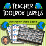 Teacher Toolbox Labels - World Map