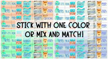Teacher Toolbox Labels- Travel Theme EDITABLE