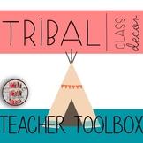 Teacher Toolbox Labels Tribal Woodland Theme Classroom Decor Shiplap Rustic