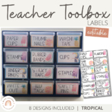 Teacher Toolbox Labels | Tropical Decor