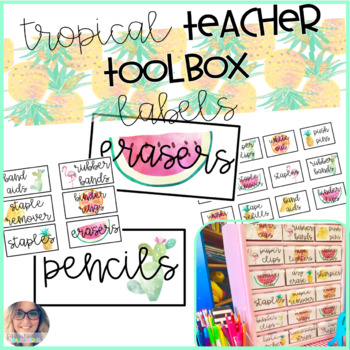 Teacher Toolbox Labels: Tropical Theme