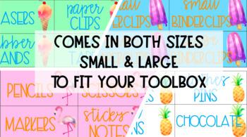 Teacher Toolbox Labels- Tropical Theme EDITABLE