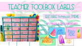 Teacher Toolbox Labels- Tropical Theme EDITABLE