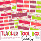 Teacher Toolbox Labels - Vintage Flowers