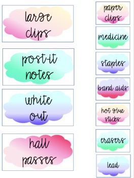 Teacher Toolbox Labels-Watercolor
