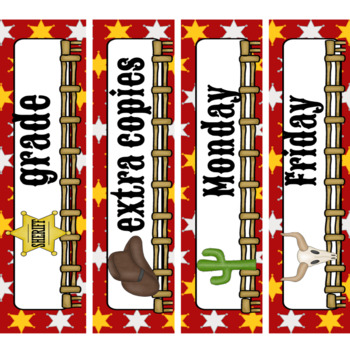 Teacher Toolbox Labels- Western Theme
