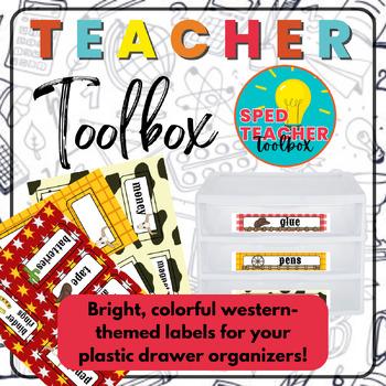 Teacher Toolbox Labels- Western Theme