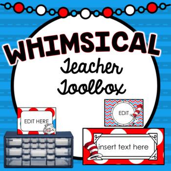 Teacher Toolbox Labels ~ Whimsical Theme Editable