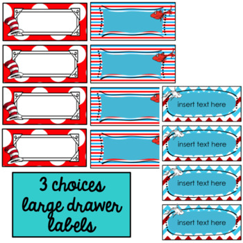 Editable Labels | Teacher Toolbox Labels | Whimsical | Red, White, Blue  Decor