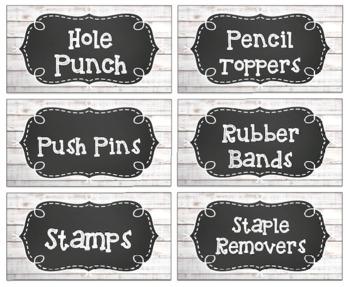 Teacher Toolbox Labels || Whitewood || EDITABLE