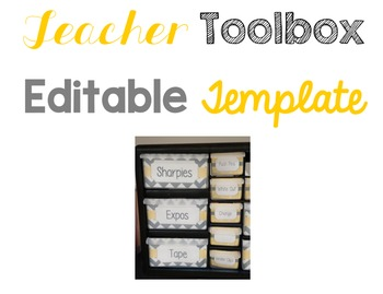 Teacher Toolbox Labels Yellow and Gray