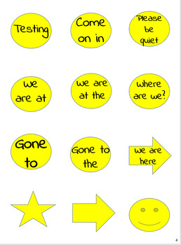 Where are we sign - Teal, Yellow and Grey