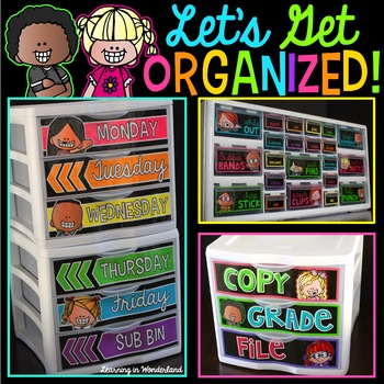Teacher Toolbox Labels and More! Editable Set { Brights Melonheadz Edition}