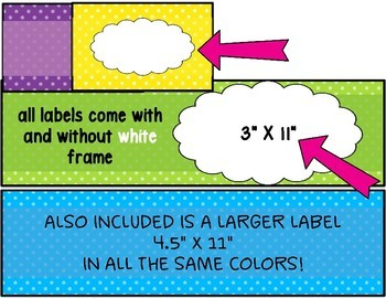 Teacher Toolbox Labels and Sterilite Drawer Labels ~ Editable