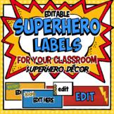 Editable Labels | Teacher Toolbox Labels | Sterilite Drawers | Superhero Decor
