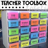 FREE Teacher Toolbox Labels for Bunnings Toolbox